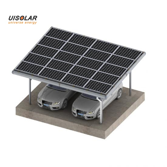Solar panel poles carport mounting structure
